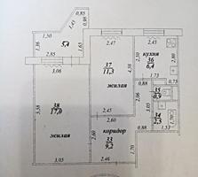 БАМ, 2-комнатная квартира, 50/28,3/6,4, лоджия 3 м, район поликлиники