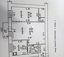 Ленинский 2-к кв. 4/4 45,6/30,1/5,9 балкон 2 кв. м. 7000 у. е.