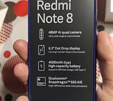 Новый Сяоми Redmi Note 8 4+64 Blue. 4G-VOLTE! -200$
