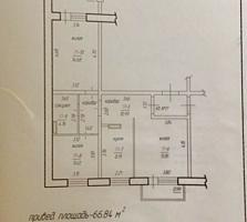 Новострой на Херсонской, 3-комнатная, 5/7 эт., 67 кв., белый вариант.