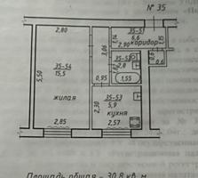 Ленинский 1-к кв-ра 6500 $, возможен обмен на 2-комнатную