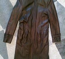 Кожаный плащ из Турции, размер 38