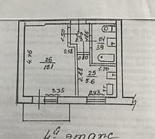 1-комнатная квартира центр Слободзеи