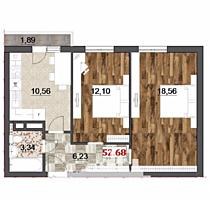 Vă propunem acest apartament cu , or. . Suprafața ,2 dormitoare, ...