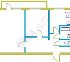 2-ком. квартира в г. Бируинца, середина, комнаты раздельные