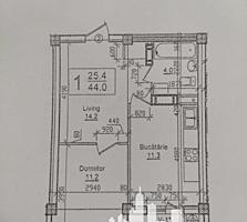 Spre vânzare apartament cu 1 cameră cu living , amplasat în sectorul .