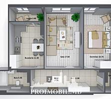 Apartament spre vânzare, 2 camereseparate, amplasat într-o zonă cu