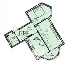 Spre vânzareapartament cu 2 camere cu o suprafață de 70 mp, în ...