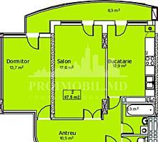 De vânzare apartament cu 2 camerе și suprafața de 68 mp, în ...