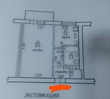 Центр, ул. Мира - 1ком. 3/5 - середина. 32м С ОФОРМЛЕНИЕМ.