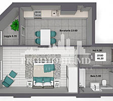 Apartament spre vânzare, 1 camerăseparată, amplasat într-o zonă cu