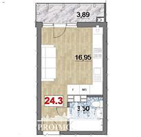De vânzare apartament cu 1 cameră și suprafața de 24 mp. Proiectul ...