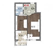 De vânzare apartament cu 1 camerăși suprafața de 44 mp. Proiectul ..