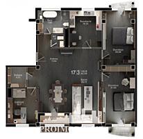 Spre vînzare apartament cu  3 camere + living în bloc nou situat în