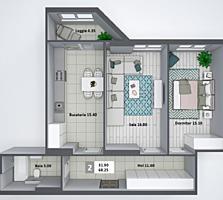 Apartament cu 2 odai la Buiucani! Varianta alba!