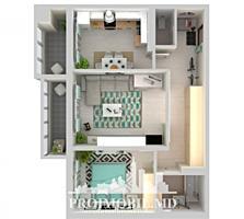 Oferim spre vânzare un apartament superb cu 2 camere, amplasat în ..