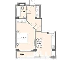 Vă prezentăm spre vînzare un apartament cu 1 cameră, situat într-o .