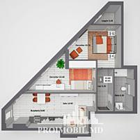 Apartament cu 2camere și suprafața de 66m2, în complexul Newton ...
