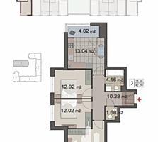 Spre vânzare apartament cu 3 camere separate în bloc nou, situat în .