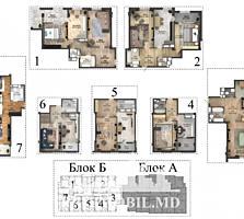 Apartament cu 2 camerе + living și suprafața de 75 m2. Complex ...