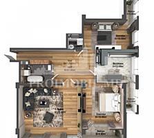Apartament cu 3 camere și suprafața de 123 m2. Complex locativ nou, ..