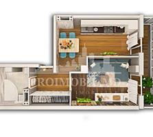Apartamentul cu o cameră, oferit spre vânzare, este situat într-o ...