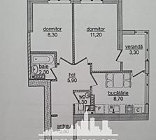 De vânzare apartament cu suprafața de 45 mp în bloc nou amplasat pe .
