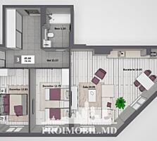 De vânzare apartament cu 3 camere și suprafața totală 80 mp. ...