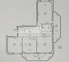 De vânzare apartament cu 3camerе și suprafața de 88mp în bloc nou
