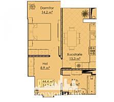 Apartament cu 1 cameră înunul dintre cele mai remarcabile proiecte ..