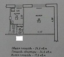 Центр, парк Победы, однокомнатная эконом класса!!!
