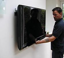 Установка телевизоров на стену. LCD, LED и плазменные. Качественно.