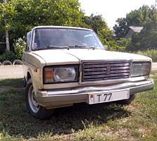 ВАЗ 2107, 1986 г/в, светло бежевый, на ходу