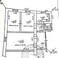 3-к кв. с автономным отоплением в частном доме участок 1 сотка, гараж