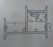 Продаю двухкомнатную 46 м2, в парке ул. Гвардейская 22, 5 этаж, 8300$