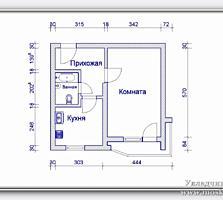 Продам 1- ком. квартиру на 1 этаже, г. Днестровск