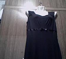 Женское чёрное платье, трикотаж, 46-48 (Новое)