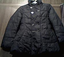 Подростковая тёмно-синяя длинная куртка, 12 лет/ на маленькую женщину