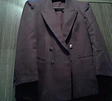 Мужской бордовый пиджак, 48-50 (Новый)
