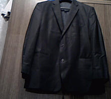 Мужской чёрный пиджак, 56 (Сэконд Хэнд)