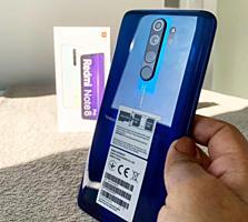 В упаковке Сяоми Redmi note 8 pro 6/64 синий цвет, VoLTE 4G