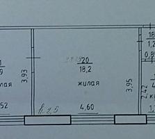 Двухкомнатная квартира, центр 35 м. 2 (+9,8) ул. Гвардейская 26, 7500$