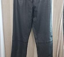 Кожаные крутые брюки с высокой талией, Германия