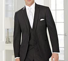 Продам костюм-тройка INEDIT черный полушерсть новый, можно свадебный.