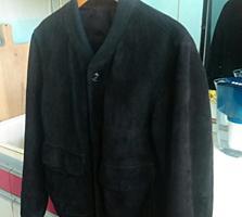 Мужская куртка черная замшевая