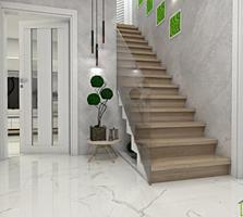 Одна часть или весь 1.5 эт. новый дом, 160м2 на 4 сотках, с. Чореску