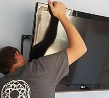 Установка телевизоров на стену. TV LCD, LED, плазменные. Кронштейны ТВ