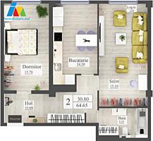 Sec. Sculeanca(Artima) Apartament 2 camere. Pretul: 700€