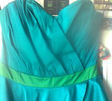 Платье бирюзовое размер 44-46. Платья вечерние 3 шт.