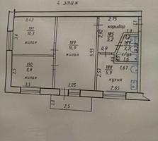 Продается 3-комнатная квартира. в центре